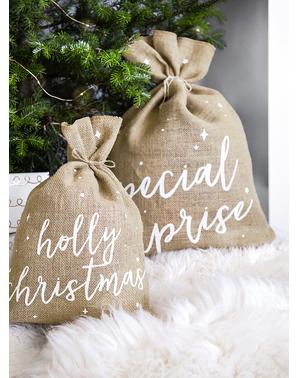 Sac Holly Christmas decorativ