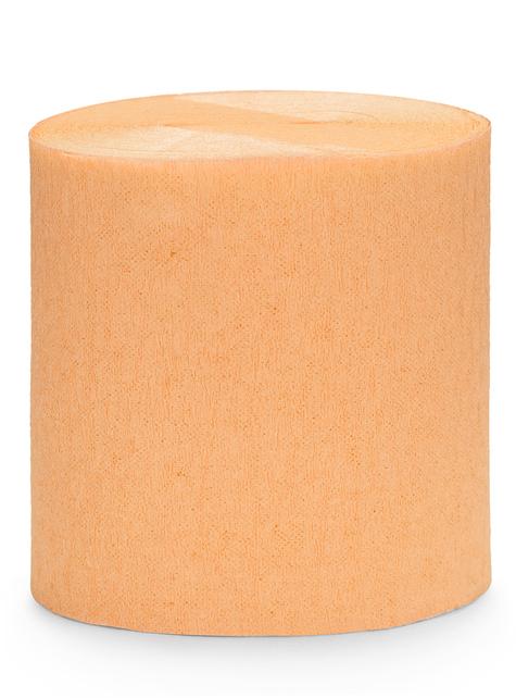 4 rolls of crepe paper tapes in orange (10m)