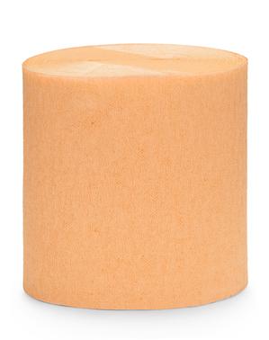 4 לחמניות של קלטות נייר קרפ בכתום (10m)