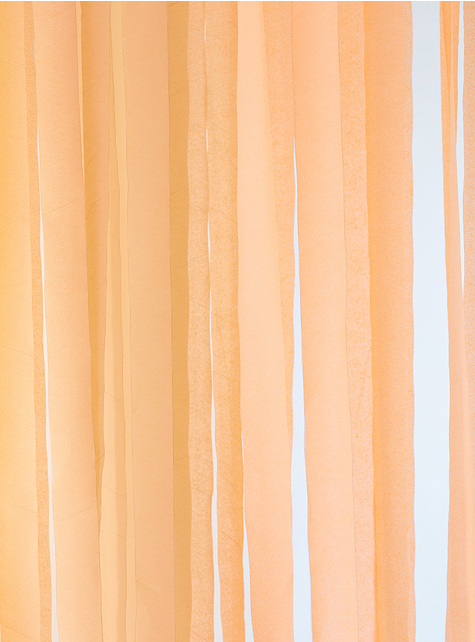 4 rolls of crepe paper tapes in orange (10m) - for parties