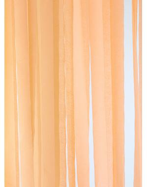 4 rolos de fitas de papel crepe laranja (10m)