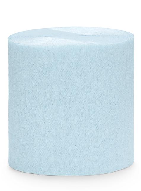 4 rollos de cintas de papel crepé azul (10m)