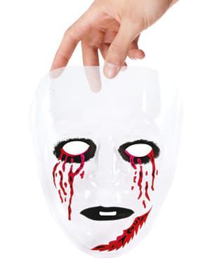 Máscara transparente con ojos ensangrentados para adulto