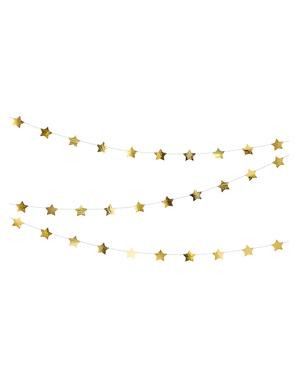 Grinalda com estrelas douradas (3,6 m)