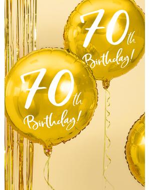 Balão 70 th Birthday dourado (45 cm)