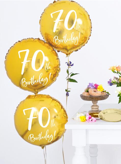 80th Birthday Luftballon gold (45 cm) - günstig