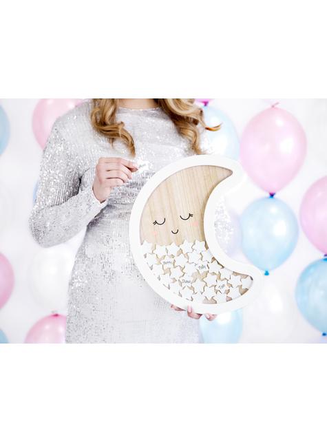 Boek van maanvormige handtekeningen met sterren - Baby Shower Party - goedkoop
