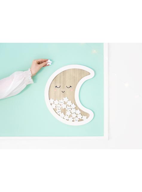 Boek van maanvormige handtekeningen met sterren - Baby Shower Party - kopen