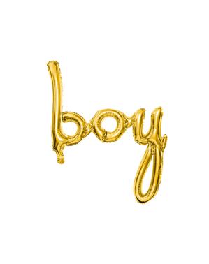 Palloncino Boy dorato (73 cm)