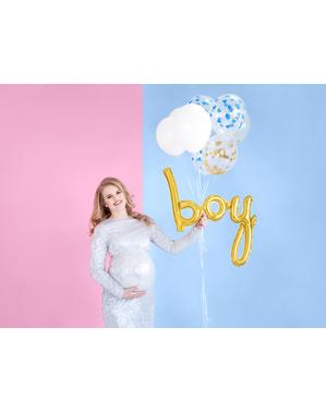 Zlatý balonek chlapec (73 cm)