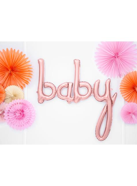 Baby Luftballon roségold (73 cm) - für Mottopartys