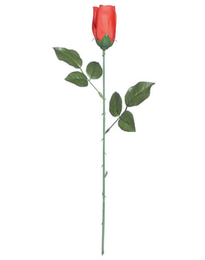 Rosa vermelha com espinhas