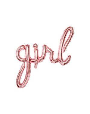Ballong Girl guldfärgad (77 cm) - Baby Shower Party