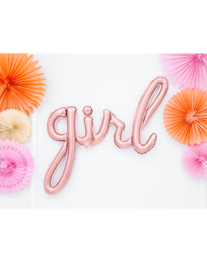 "Златист балон ""girl"" (77 cm) – Baby Shower Party"