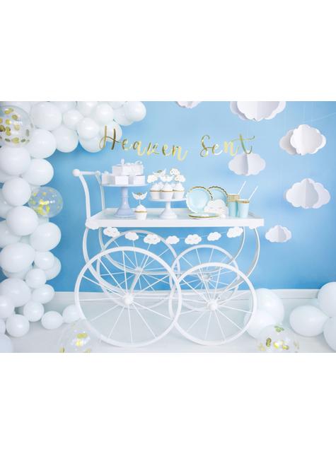 6 dekorativních tršků s obláčky a anděly - Baptism Day - koupit