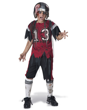Costum jucător de Rugby zombie pentru băiat