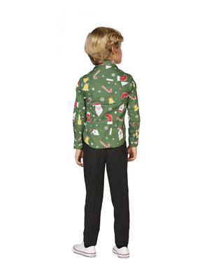Opposuits - 子供のためのグリーン・クリスマス「Santaboss」シャツ