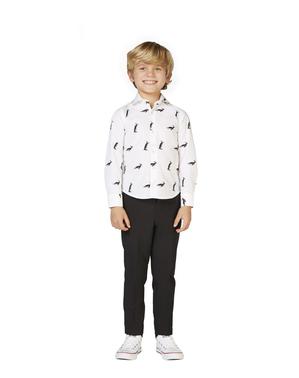 Camisa branca com pinguins para menino - Opposuits
