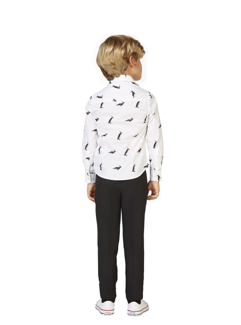 Camisa com pinguins Opposuits para menino