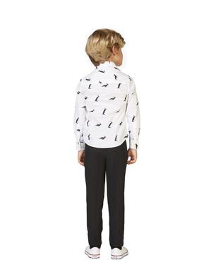 Camisa Blanca con pingüinos para niño - Opposuits