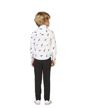 White Shirt with penguins for kids - Opposuits