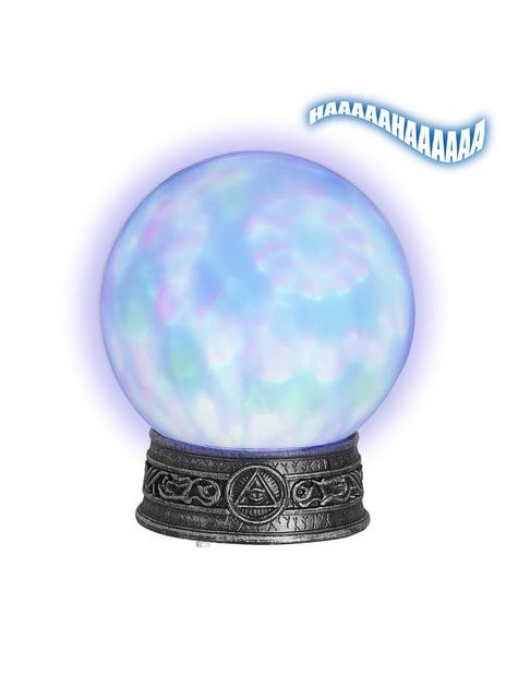 Křišťálová koule svítící
