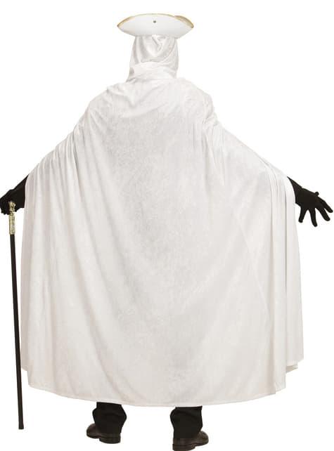 Adult's White Velvet Cape