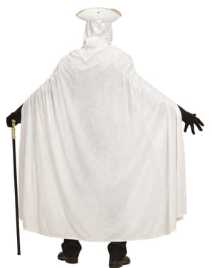 Adult's White Velvet Cape