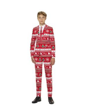 Червоний новорічний костюм «Wonderland» для підлітків - Opposuits