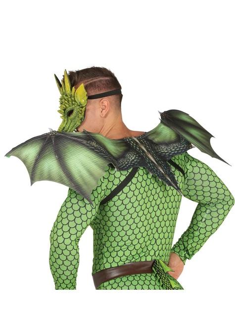 Alas de dragón verde para adulto