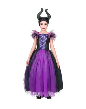 Ond dronning kostume til piger