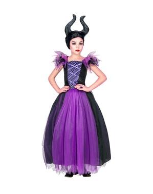 Costum de regină malefică pentru fată