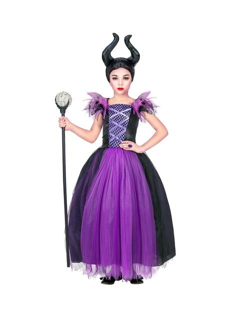 Disfraz de reina malévola para niña