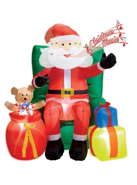 מתנפחים סנטה קלאוס יושב על כורסה ענקית