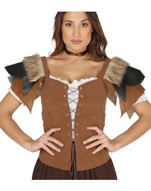 Chaleco medieval para mujer