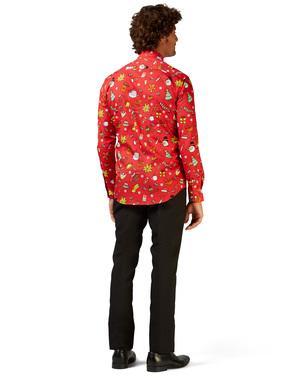 Skjorta med Christmas Doodle Red Opposuits för honom