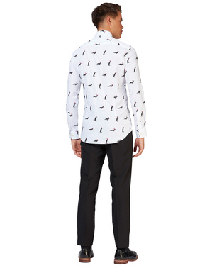 Біла сорочка з пінгвінами - Opposuits