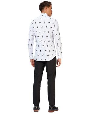 Weißes Hemd mit Pinguinen - Opposuits