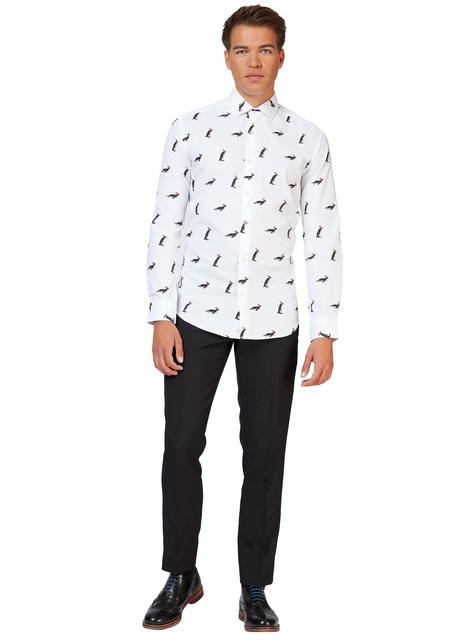 Camisa branca com pinguins - Opposuits