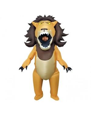 Maskeraddräkt lejon uppblåsbar för vuxen
