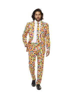 Costum barbați imprimeu cu confetti - Opposuits