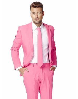 Fato cor-de-rosa