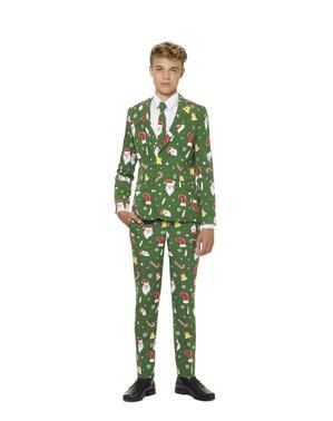 Costum adolescenți Crăciun verde