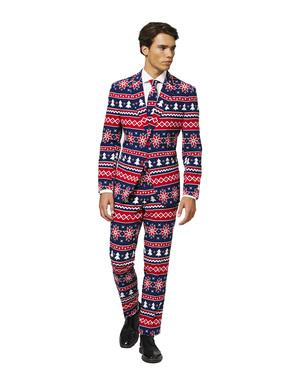 """Modrý vianočný oblek """"Nordic Noel"""" - Opposuits"""