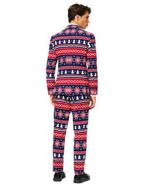 Costum barbați Crăciun albastru