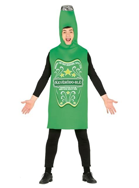 Disfraz de cerveza verde para adulto