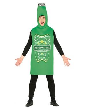 Kostium zielonej butelki piwa dla dorosłych