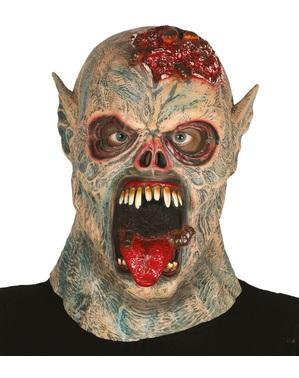 Maschera da mostro dei vermi in lattice per adulto