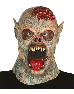 Červ monster latexová maska pre dospelých