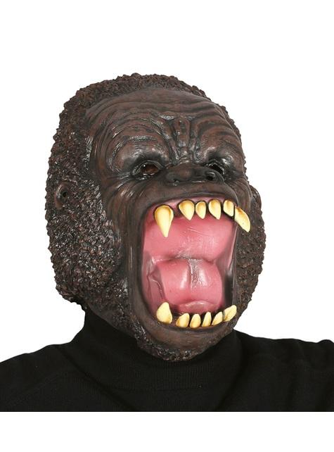Máscara de gorila enfurecido de látex para adulto